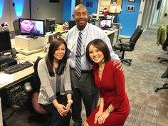 New year, new reporter! Welcome Bora Kim to NBC Charlotte! Today's her first day, training, and you'll see her on-air starting next week. (Hah, I think Glenn looks pretty happy in this photo...)