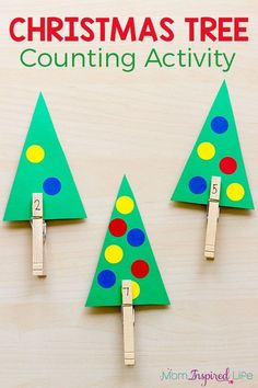 This Christmas tree counting activity is a fun way for preschoolers to learn number sense this holiday season! #christmas #math #preschool #kindergarten