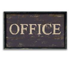 Handmade custom office sign framed in by DesignHouseDecor on Etsy
