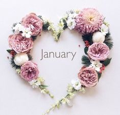 by SamanthaSerena xoxo @ princesse-pastel-roséromantiqueheader image credit Days And Months, Months In A Year, 12 Months, Flower Crown, Flower Art, Hello January, Mom Planner, Month Flowers, Winter Illustration
