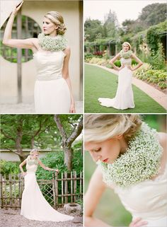 Ok, im sorry - thats really pretty!  baby's breath neck collar