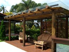 12 Pergola Patio Ideas that are perfect for garden lovers! Pergola Alu, Pergola Garden, Backyard Patio, Outdoor Rooms, Outdoor Living, Outdoor Decor, Gazebos, Patio Seating, Covered Pergola