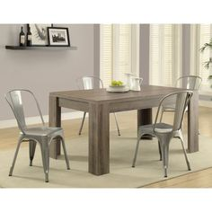 Monarch Greyson Rectangle Dining Table - Dark Taupe