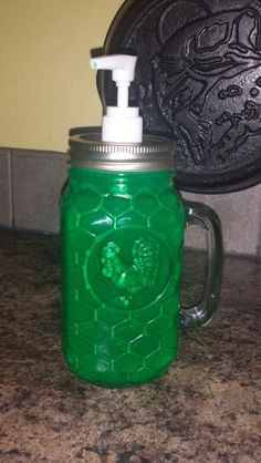 My new soap dispenser...i♡ mason jars..**