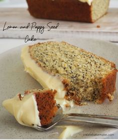 This easy Lemon and Poppy Seed Cake is always a winner! Especially when it's topped with a delicious cream cheese icing. Both regular and Thermomix instructions included. Lemon Recipes, Baking Recipes, Dessert Recipes, Muffin Recipes, Fun Easy Recipes, Sweet Recipes, Yummy Recipes, Yummy Snacks, Delicious Desserts