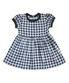 Black & White Gingham Alice Dress - Infant, Toddler & Girls