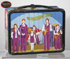 The Partridge Family, back side of metal lunchbox. The front showed their tour bus.  May 2012