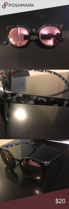 Quay sunglasses Quay Australia. Round black tortoise shell sunglasses with mirrored leases. Like new, no scratches, never been worn. Quay Australia Accessories Sunglasses