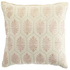 Possibly inspired by the prettiest tile ever, our Embroidered Tile Pillow layers traditional needlework on a cotton-linen cover for a soft, ultra feminine accent. We'd add that people tell us they love this Pier 1-of-a-kind artisan creation, but, well, that just makes us blush.