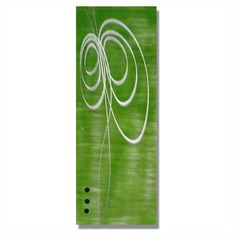 Keen on Green Metal Wall Hanging