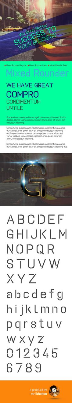 Mixed Rounder Font - Decorative Fonts