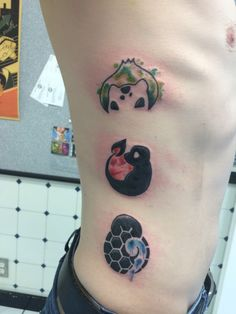 Pokemon tattoo bulbasaur - charmander - squirtle