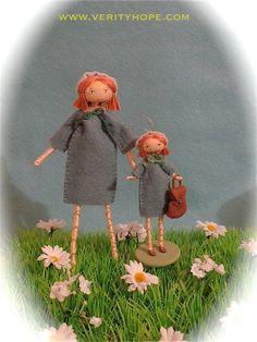 felt doll miniature Verity Hope character