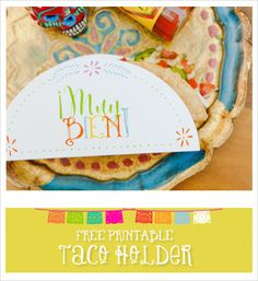 Last chance to plan a Cinco De Mayo party with our recipes, free printables, and fun DIYs! #fiesta #diy #weddingchicks Design: Jen Simpson Design --- http://www.weddingchicks.com/2014/04/30/make-your-own-taco-bar/