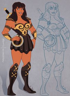 This artist drew Disney's 'Xena: Warrior Princess' and now you're sad it isn't real - Yahoo TV