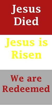 easter, jesus died, jesus is risen, we are redeemed. newlywedjourney.blogspot.com