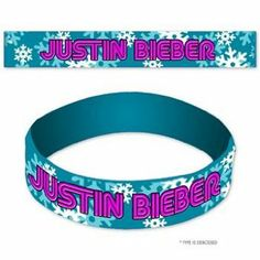 Justin Bieber - Snowflakes Rubber Bracelet In Blue