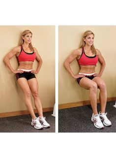 Get toned thighs with wall sits