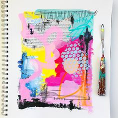 mixed media artist Samantha Russo on Her Lovely Heart. Click through to read! Kunstjournal Inspiration, Art Journal Inspiration, Art Inspo, Kunst Inspo, Posca Art, Guache, Mixed Media Artists, Mixed Media Artwork, Art Sketchbook