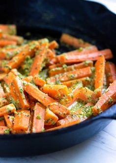 carrots with pistachio herb butter