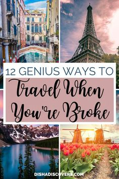 Is money stopping you from traveling? Travel doesn't have to be expensive. Here are 12 genius tips that you can use to travel on a budget. Budget travel tips | Budget travel tips saving money | Budget travel tips ideas | Budget travel hacks | Low budget travel tips | Holiday on a budget travel tips | Travel when broke | Budget travelling | Budget travelling tips | #BudgetTravelTips #BudgetTravelHacks #BudgetTravel