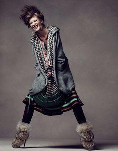 Huamei Buluo/My Wild Love I Vogue China I November 2010 I Model: Valerija Kelava I Photographer: Lachlan Bailey I Editor: Anne Christensen.