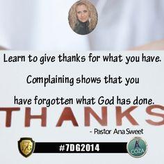 #COZA #7DG2014 #Day2 with #PastorAnaSweet #Wenesday02 #July #2014 #HappyDays