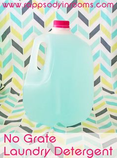 I make a dry detergent I am going to try this after my dry runs out - Homemade No-Grate Laundry Detergent