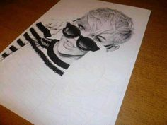 Awesome drawing of miley cyrus