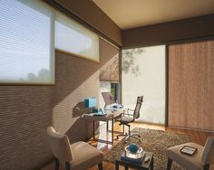 Applause® honeycomb shades with Vertiglide™