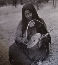Tuareg musicians from Niger. The blog I linked to has more photos as well as a recording made in Niger 1963/1964 of Tuareg