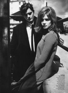"""LOVE this pic from Grace Coddington's wonderful """"My Generation"""" spread in Vogue's September issue. Natalia Vodianova's hair is perfect."""