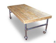 Steigerhouten Tafel 86 met Steigerbuis H Frame - Deze Steigerhouten Tafel van van Abbevé heeft een uniek onderstel dat zowel voor stevigheid als voor een elegante uitstraling zorgt. De tafel is verkrijgbaar in verschillende lengtes (250-450 cm).