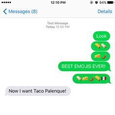 Even smartphones make you crave tacos! #tacopalenque #discoverthewow #tacoemoji http://discoverthewow.com/
