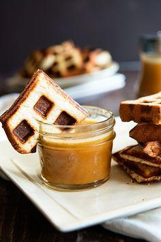 King's Hawaiian Waffles with Pumpkin Syrup - Dine and Dish