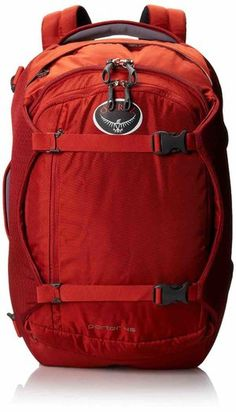 Osprey Porter Travel Backpack Bag Hoodoo Red -- You can find more details by visiting the image link. Best Carry On Backpack, Hiking Backpack, Backpack Bags, Duffel Bag, Backpacking Europe, Travel Packing, Travel Bags, Travel Items, Travel Backpack