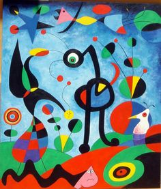 Juan Miro Paintings - The Best Picture of Painting Famous Abstract Artists, Famous Artists Paintings, Joan Miro Pinturas, Joan Miro Paintings, Magritte Paintings, Art Paintings, Art Du Monde, Wassily Kandinsky, Elements Of Art