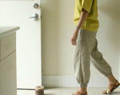 LINEN TROUSER ETHEL / linen pants / women / linen by PAMELATANG
