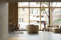Armadillo Sydney Showroom Furniture: Daniel Boddam Photography: Ann Do Furniture Showroom, Armadillo, Rugs In Living Room, Floor Rugs, Relax, Flooring, Studio, Interior, Sydney