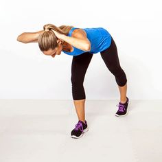 8 moves to banish bra bulge, back pain, and bad posture - Split Stance Extension