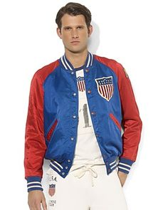 Ralph Lauren Team USA Olympic Satin Twill Jacket | Bloomingdale's   I wish this jacket wasn't $495 and was made in women's sizes.