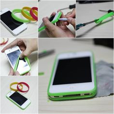 <p>Here is a fun DIY projectto make a simplesmartphonebumper case with silicone bracelet. Just choose your favorite colors of bright silicone bracelet and get started! What you need: Silicone bracelet; Scissors or utility knife; Pen. How to do: Take a silicone bracelet and stretch it. Wrap it around the smartphone. …</p>