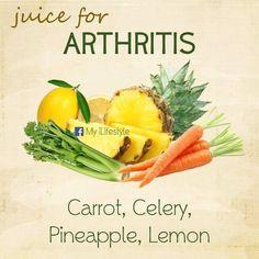 Juice for arthritis Healthy Juices, Healthy Smoothies, Healthy Drinks, Healthy Tips, Detox Smoothies, Healthy Food, Smoothie Recipes, Detox Drinks, Stay Healthy