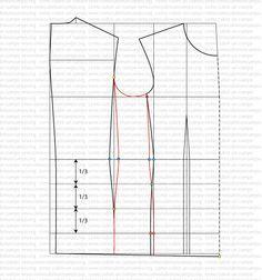 Patrón base de la americana masculina a medida | Cómo cubrir un cuerpo