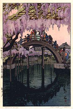 Kameido Bridge, Tokyo, Japan; by Hiroshi Yoshida, 1927                                      .