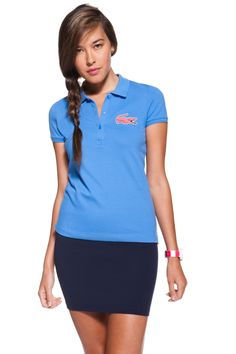 love the large gator on this lacoste polo!