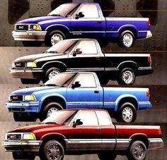1998 GMC Truck Sonoma Original Sales Brochure Catalog