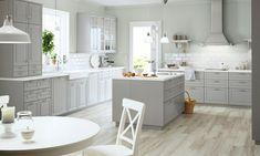 cocina retro color gris claro