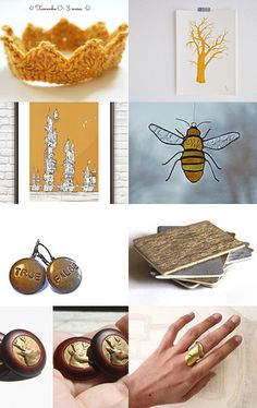 Golden Christmas by Constança Nobre on Etsy--Pinned with TreasuryPin.com #PTteamEtsy #ChristmasColorsProject #EtsyEurope #Portugal