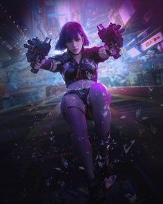 Killer One by Song on ArtStation Cyberpunk Girl, Cyberpunk Character, Cyberpunk 2077, Cyberpunk Fashion, Goddess Movie, Neon City, Sci Fi Art, Fantasy Girl, Animation Film
